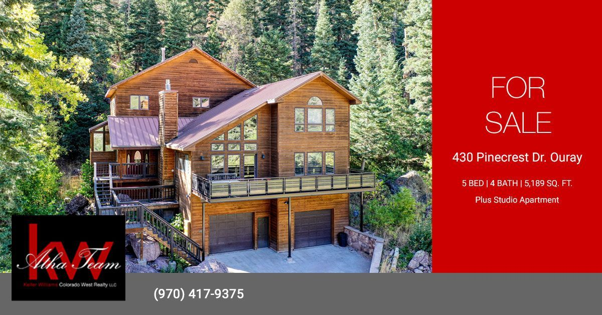 Alpine Home w/ Modern Updates and Views - 430 Pinecrest Dr Ouray – MLS 763364 In-Town Alpine Home w/ Modern Updates and Unmatched Views of the Mountains and Amphitheater. Conveniently located in Ouray, this multi-level... Call the Atha Team 970-417-9375