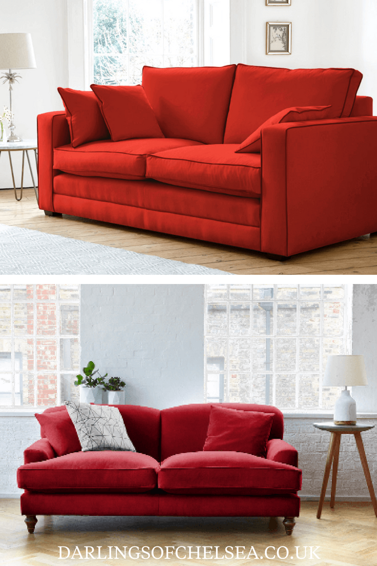 If your small living room is cramped, the last thing you want to do is hang out there. Colour your living room with a red sofa   Darlings of ...