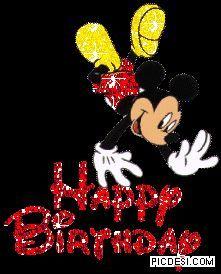Feliz cumpleanos amiga con mickey mouse