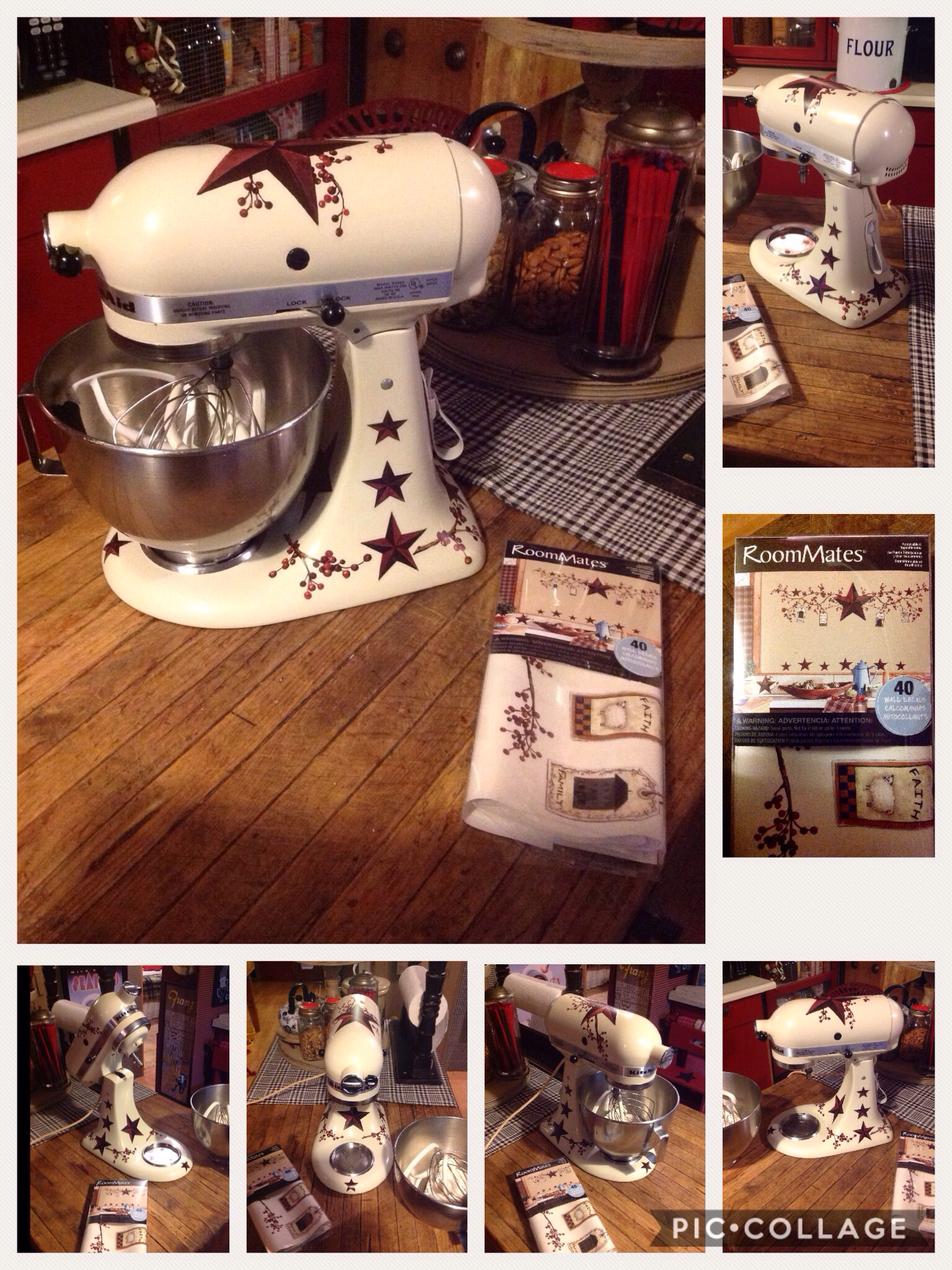 Kitchenaid Mixer Makeover Using Roommates Removable Decals I