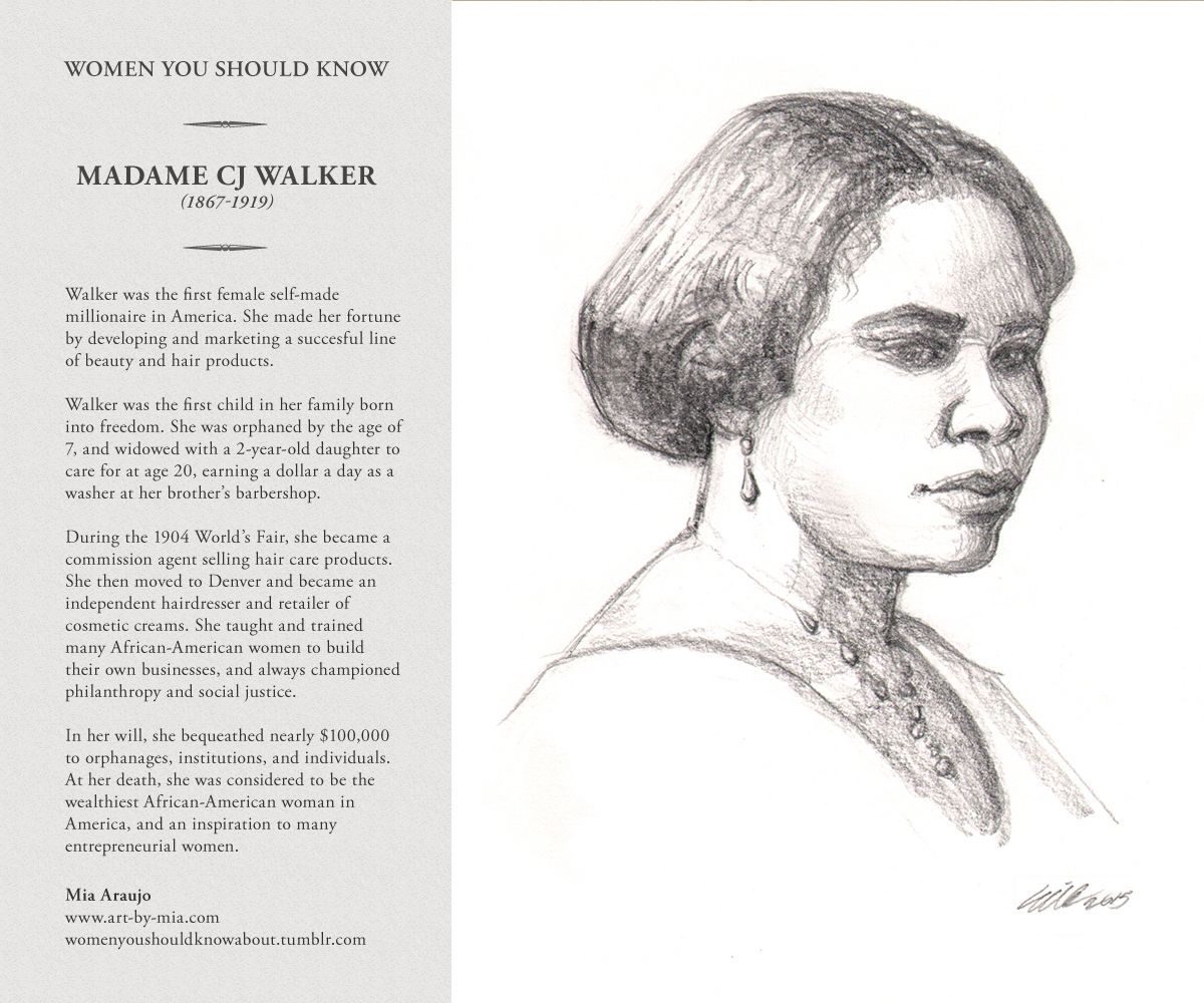 Madame CJ Walker by Mia Araujo. | Artists | Pinterest ...