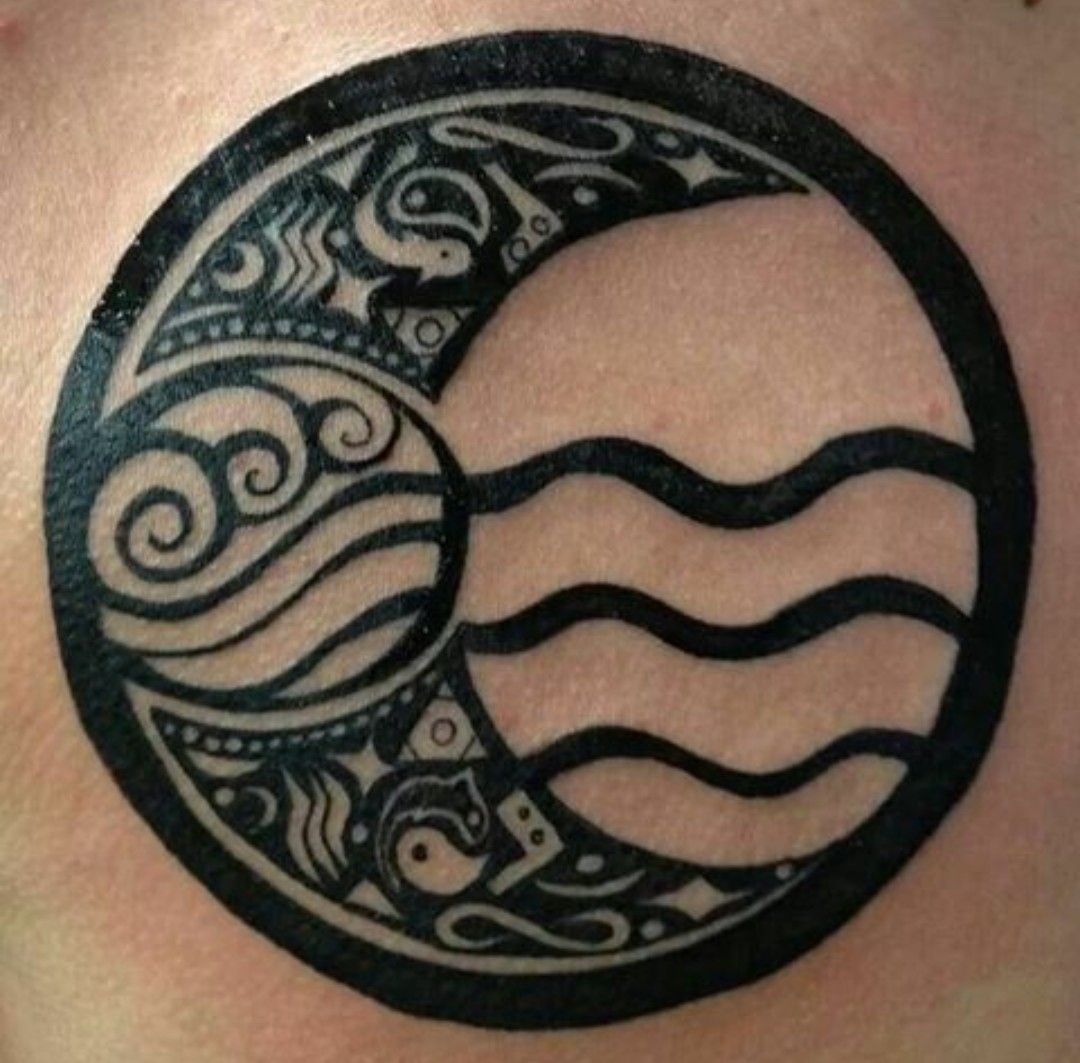 Avatar The Last Airbender water bending tattoo Tribal