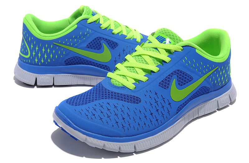 2013 Nike free 4.0 V2 women's running shoes blue green on sale,for Cheap