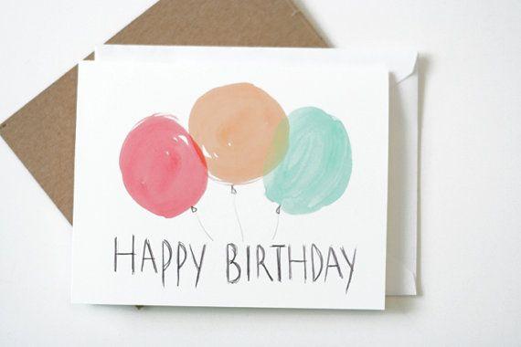Watercolor balloons birthday card homemade watercolors watercolor balloons birthday card bookmarktalkfo Gallery