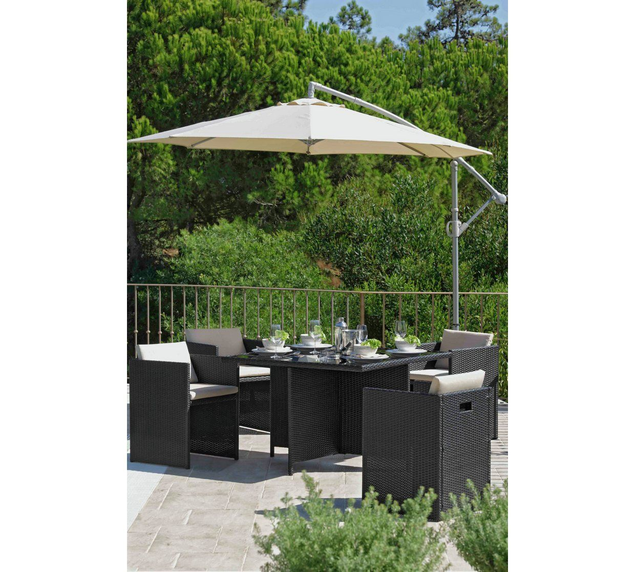Buy Argos Home Rotating Overhanging Garden Parasol Cream Garden Parasols And Bases Argos Clearance Patio Furniture Garden Parasols Overhanging Parasol - Garden Furniture Clearance Argos