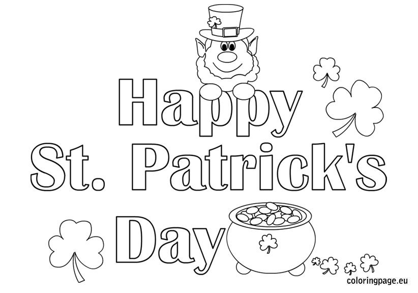 st patricks dat coloring pages - photo#34