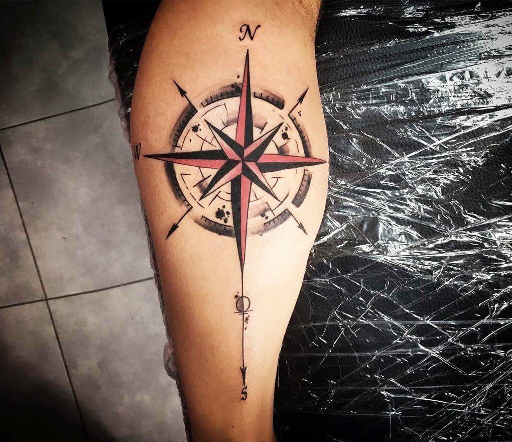 Photo - Compass tattoo by Kafka Tattoo | Kompass tattoo