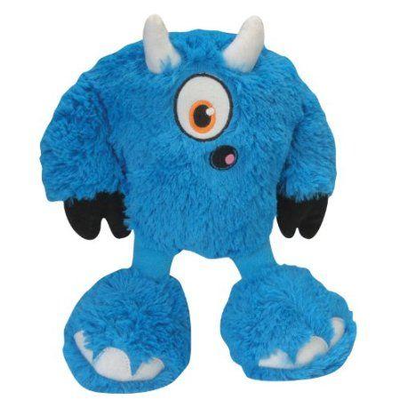 Amazon Com Godog 770923 Yeti Bully Dog Toy Blue Pet Supplies