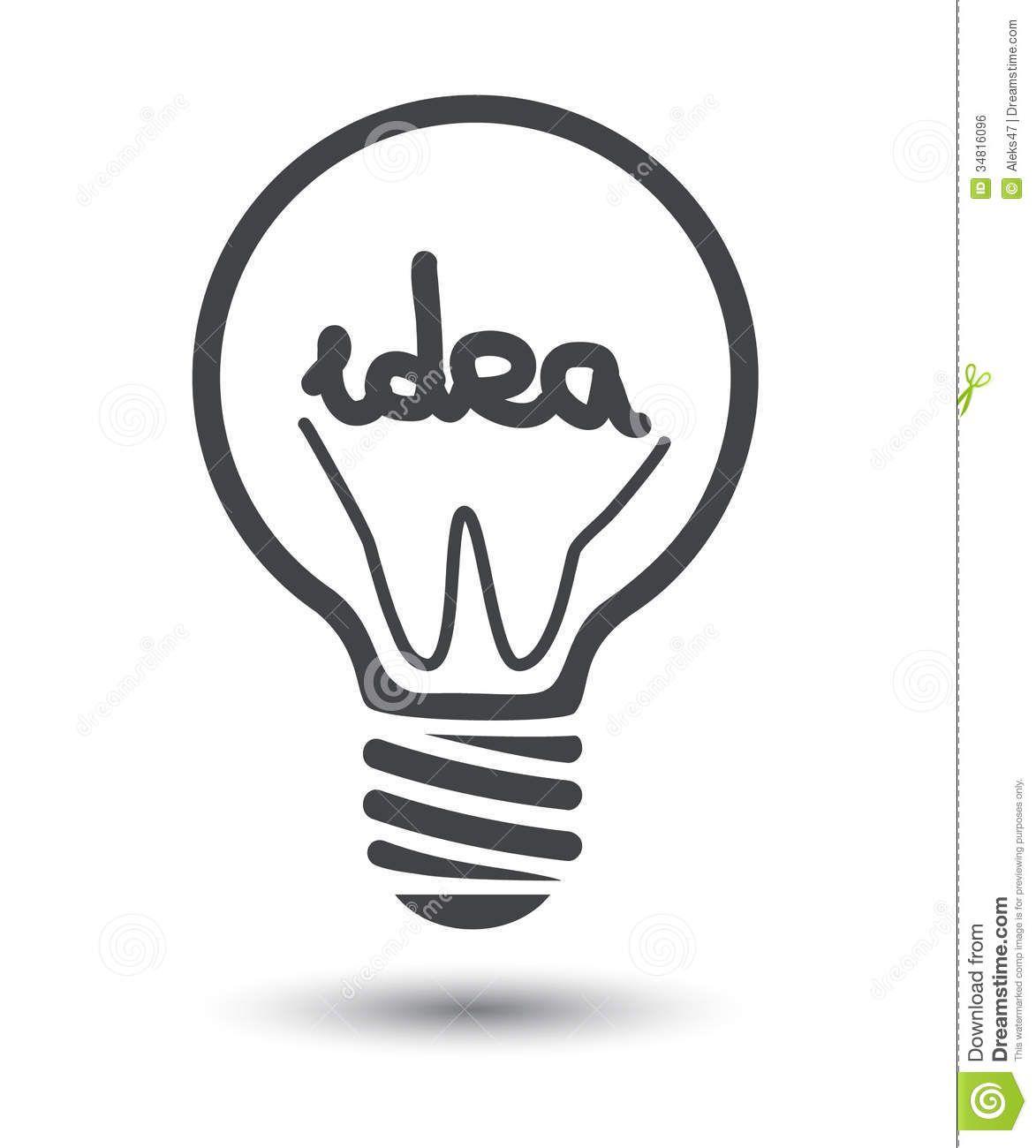 Idea Black Light Bulb Background Illustration 34816096