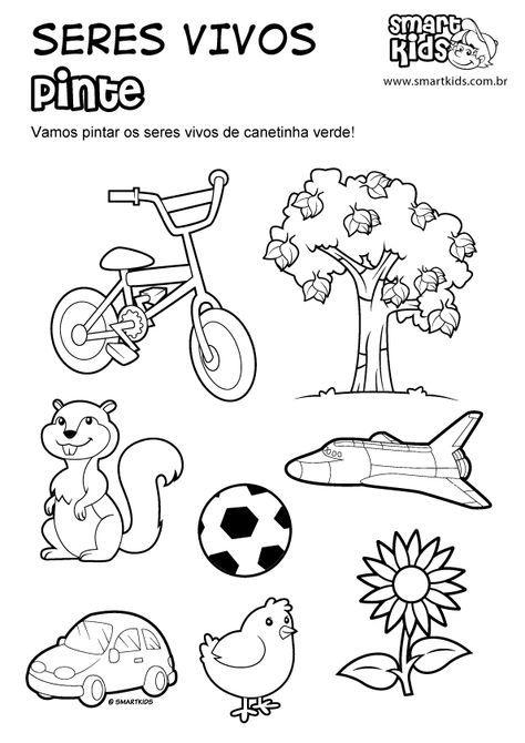 Imagenes De Seres No Vivos O Inertes Para Colorear Buscar Con Google Preschool Writing Kindergarten Science Phonics Kindergarten