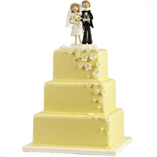 not a fan of the cake topper BUT the square idea with the little ...