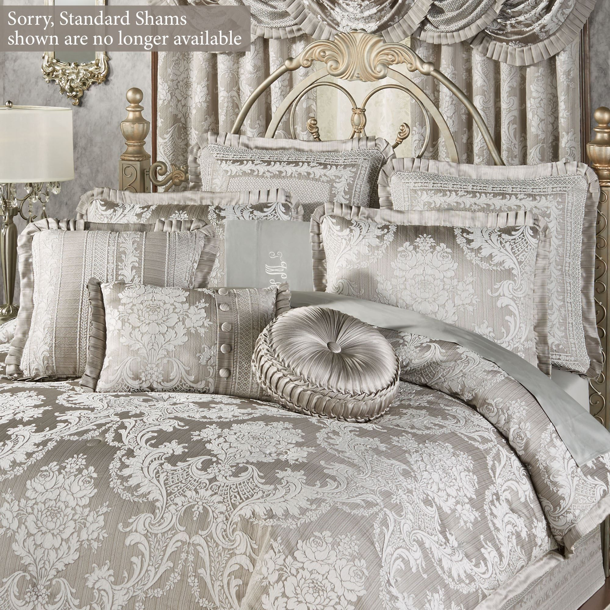 Bellamy Silver Gray Bedding Accessories Luxury Bedroom Decor Silver Bedroom Decor Silver Bedroom