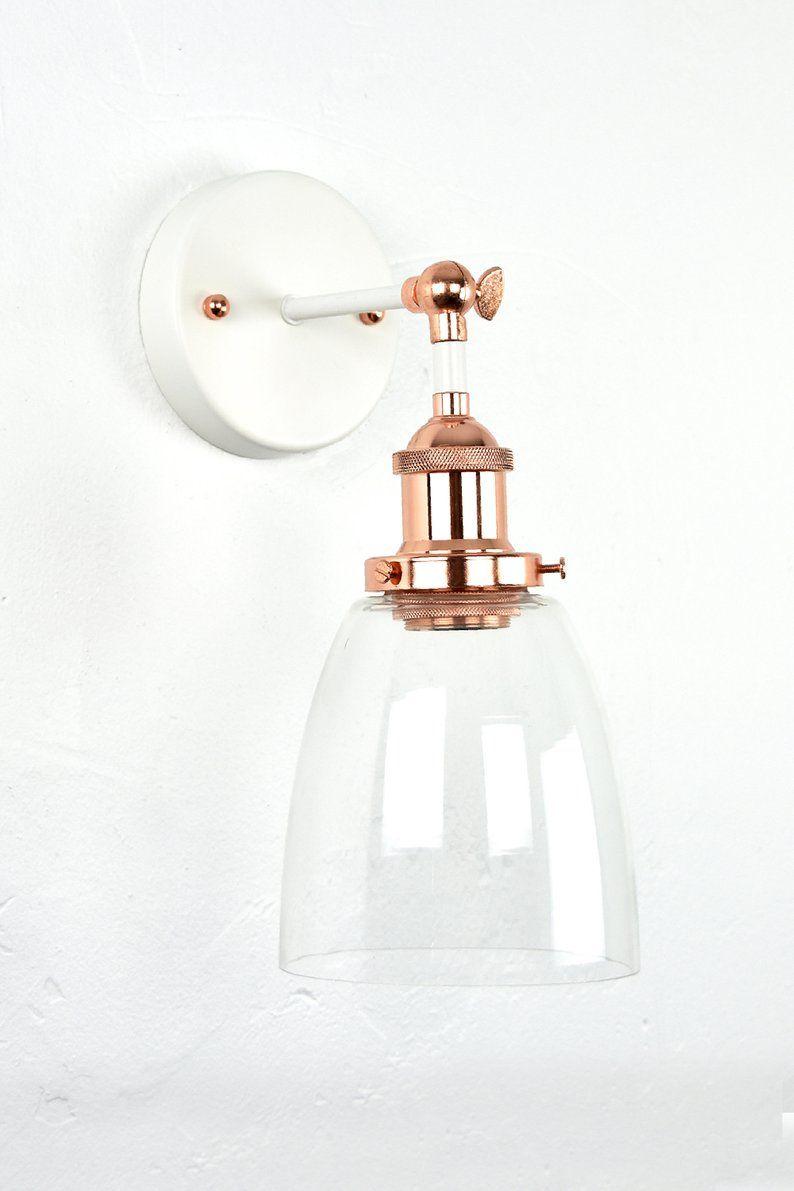 Glass Bell Wall Sconce Modern Lighting Bedroom Lighting Etsy Gold Wall Lights Modern Bedroom Lighting Gold Light Fixture
