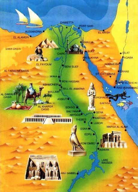 Map of ancient egypt trvlgenie egypt pinterest ancient egypt map of ancient egypt gumiabroncs Images