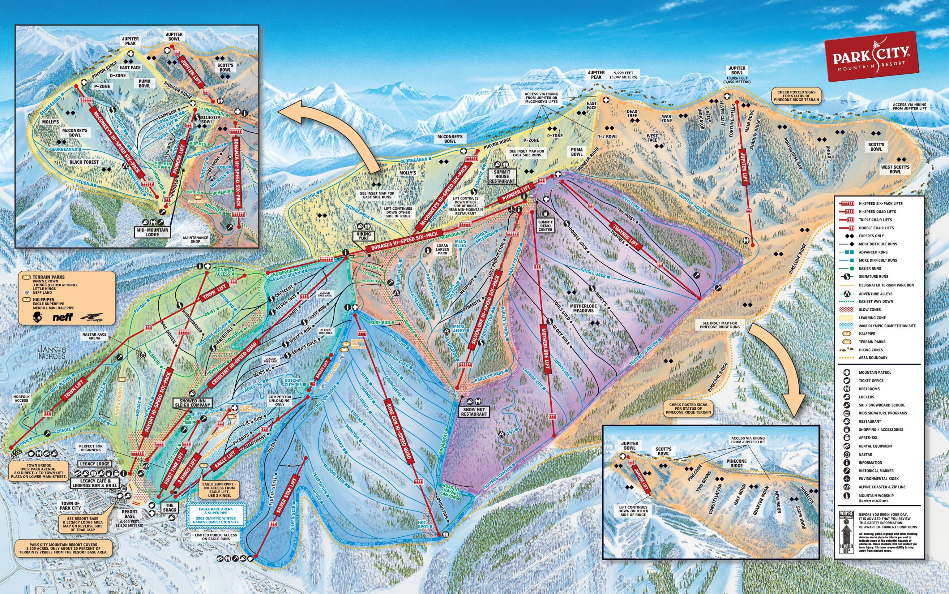 Published In 2014 At Park City Mountain Resort Park City Mountain Park City Skiing Park City Trail Map