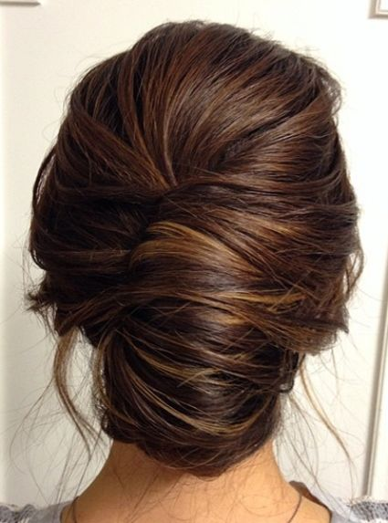 Formal French Roll Hairstyles For Older Women