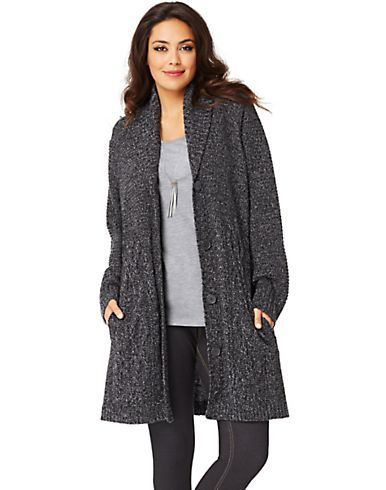 Just My Size Shawl-Collar Women's Car Coat | ESF2247X