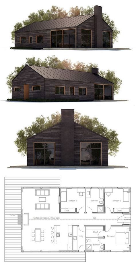 Pin By Nick Quam On Small Houses Modern House Plans Small House Plans House Plans