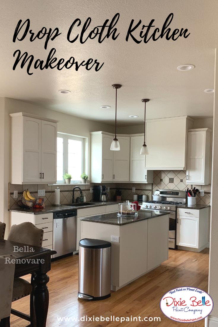 Drop Cloth Chalk Mineral Paint Modern Kitchen Design Kitchen Cabinet Trends Kitchen Design