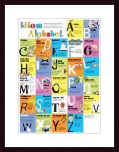 Idiom Alphabet Poster at Barewalls.com