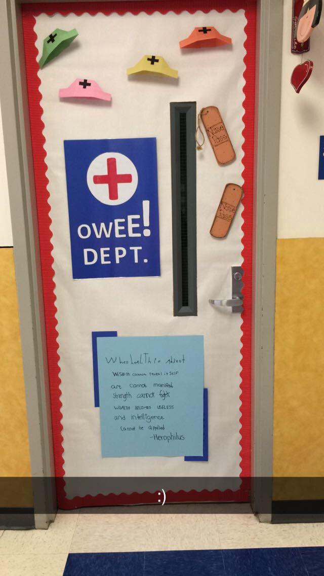 School Nurse Door Quote Bandages School Nurse School Nurse