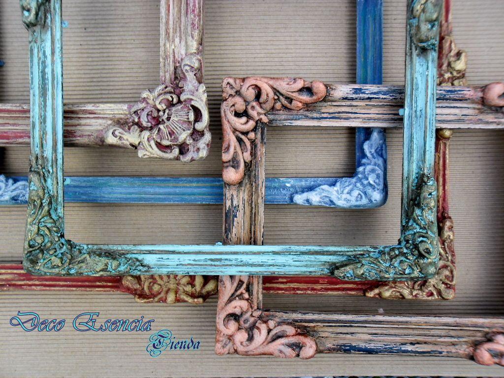 Arte Y Antigüedades Espejos Competent Bonito Antiguo Marco De Fotos