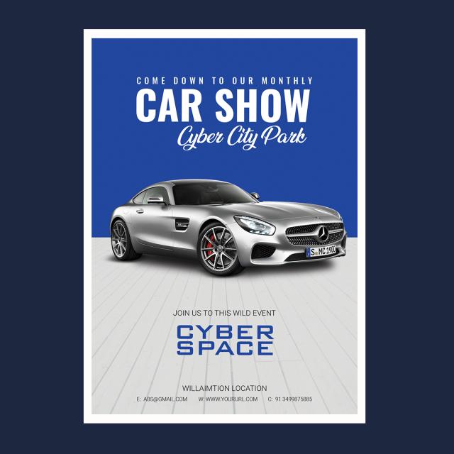 Car Flyer Car Poster Car Show Poster Car Mock Up Car Template Car Show Case Poster Corporate Event Design Flyer Design Flyer Design Layout