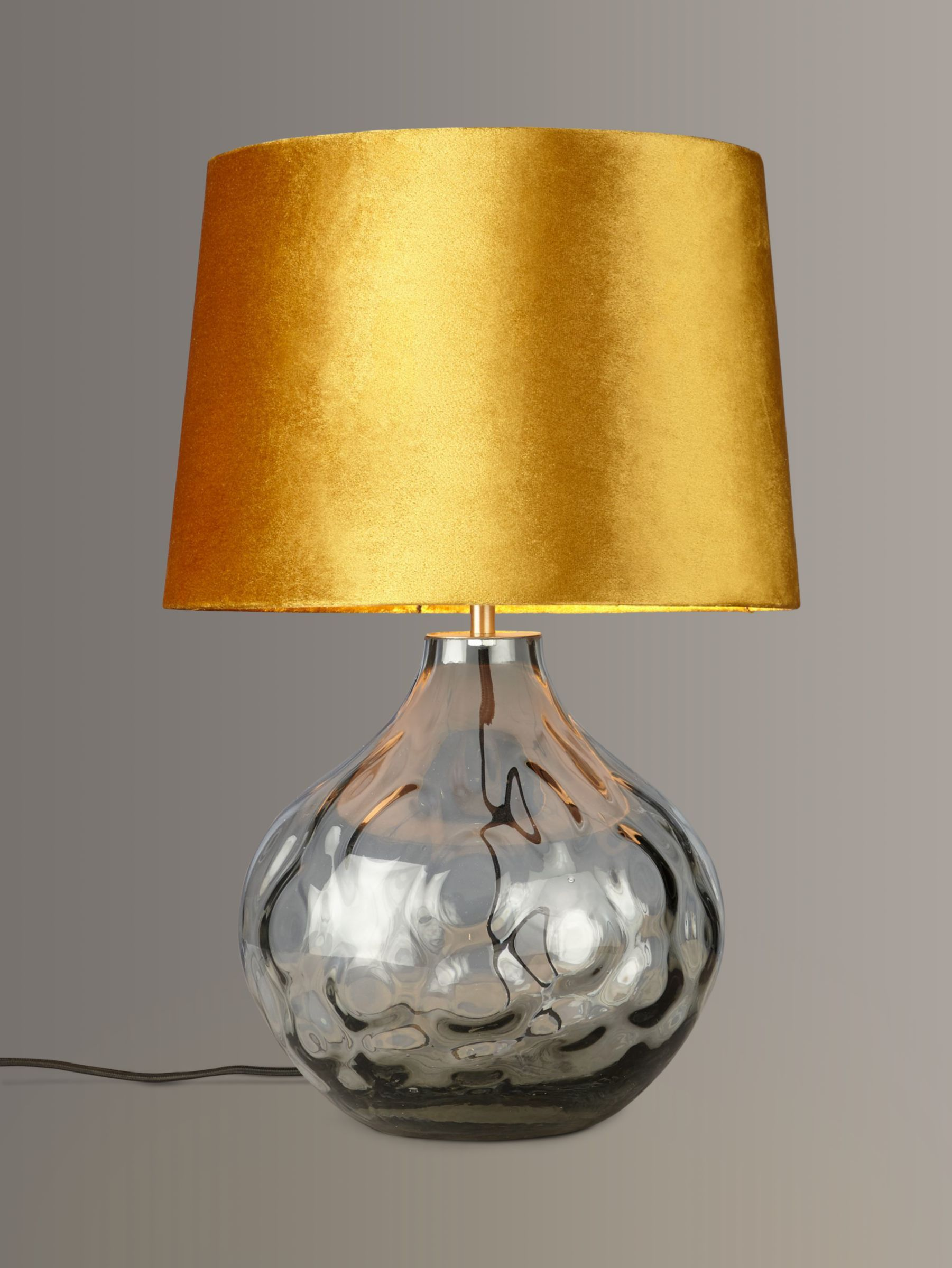 John Lewis Partners Vivienne Smoked Glass Table Lamp Grey Table Lamp Grey Table Lamps Hallway Lamp