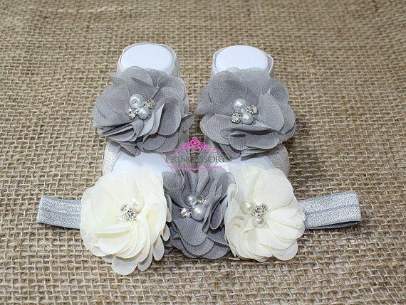 Baby Barefoot Sandals Newborn Shoes Newborn by Princessory
