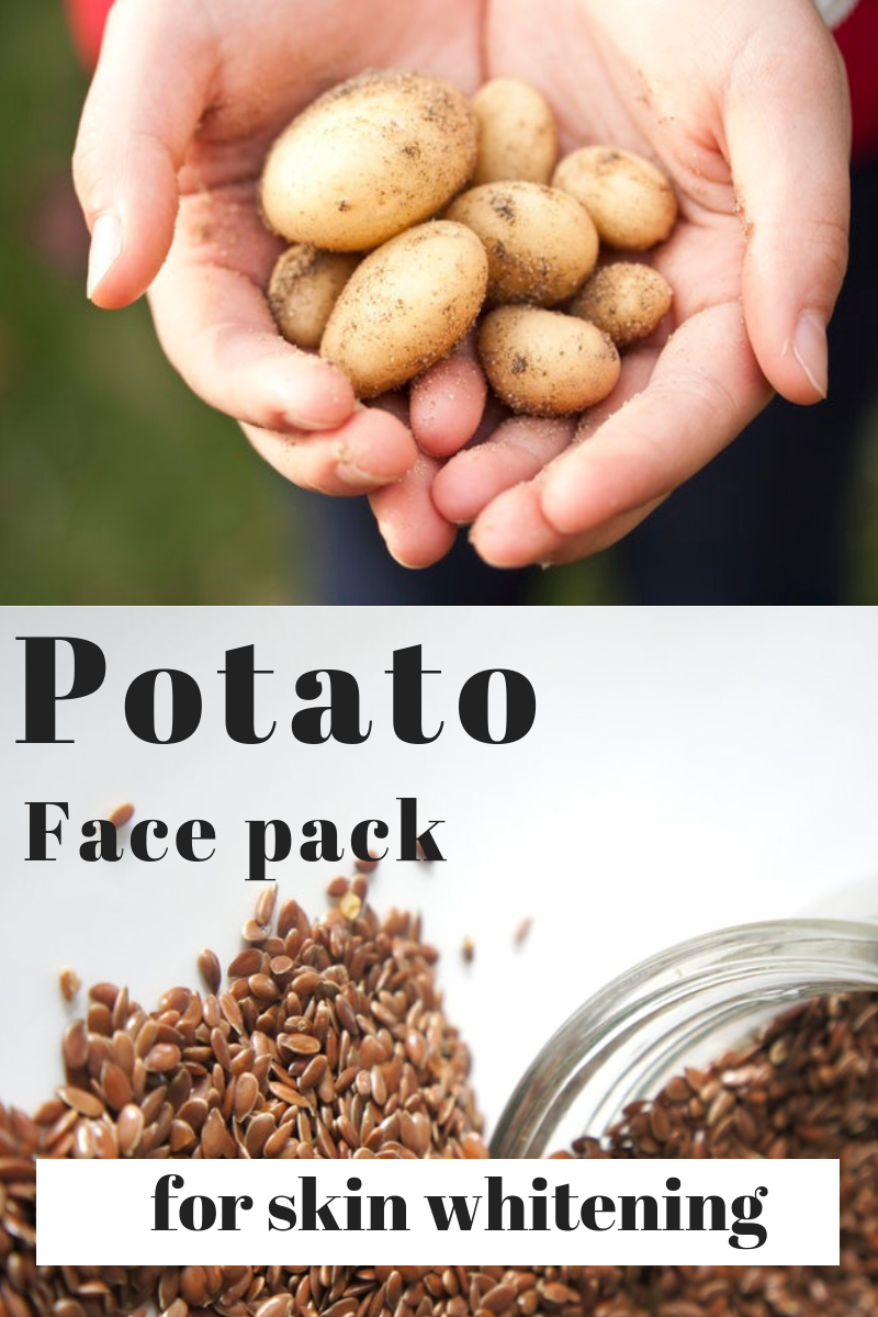 Potato face pack for glowing beautiful skin #diy #facepack #facemask #beauty #remedies #howto #glow...