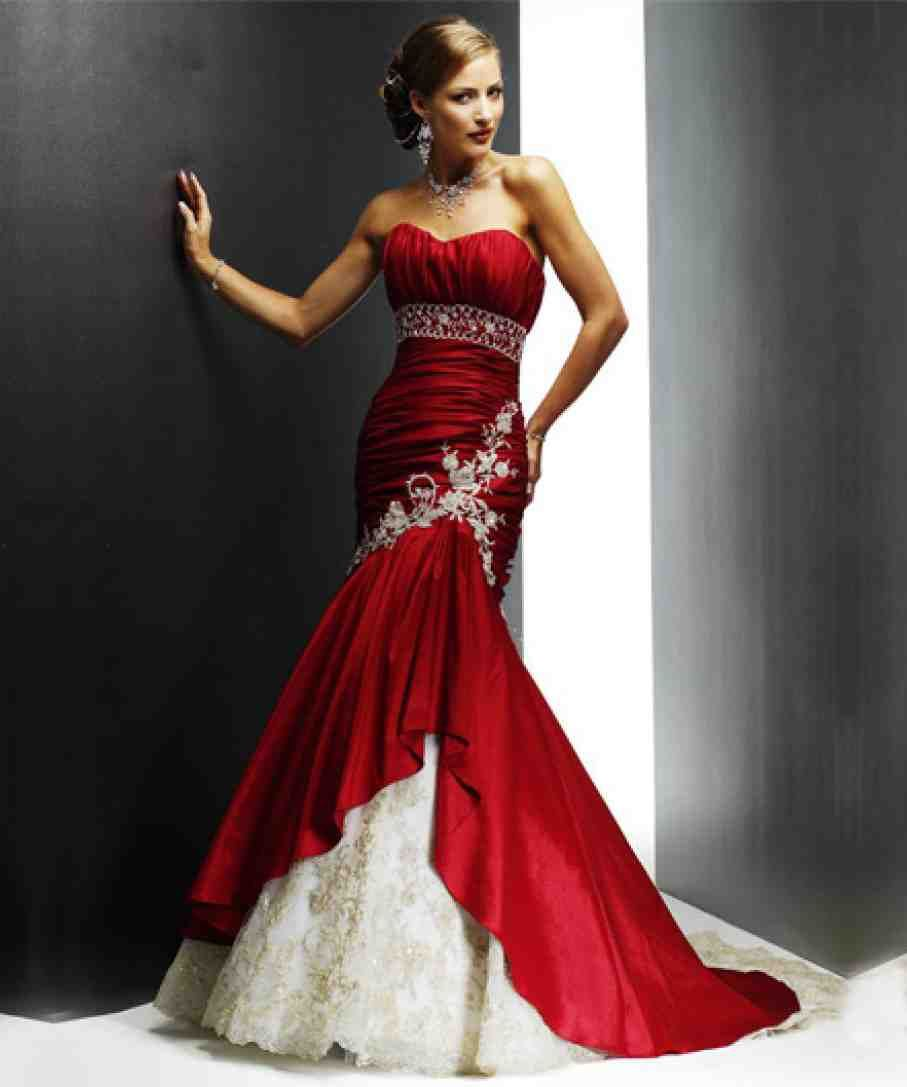 Red And White Wedding Dresses Red Wedding Dresses Red Wedding Dress Mermaid Red Ball Gowns [ 1087 x 907 Pixel ]