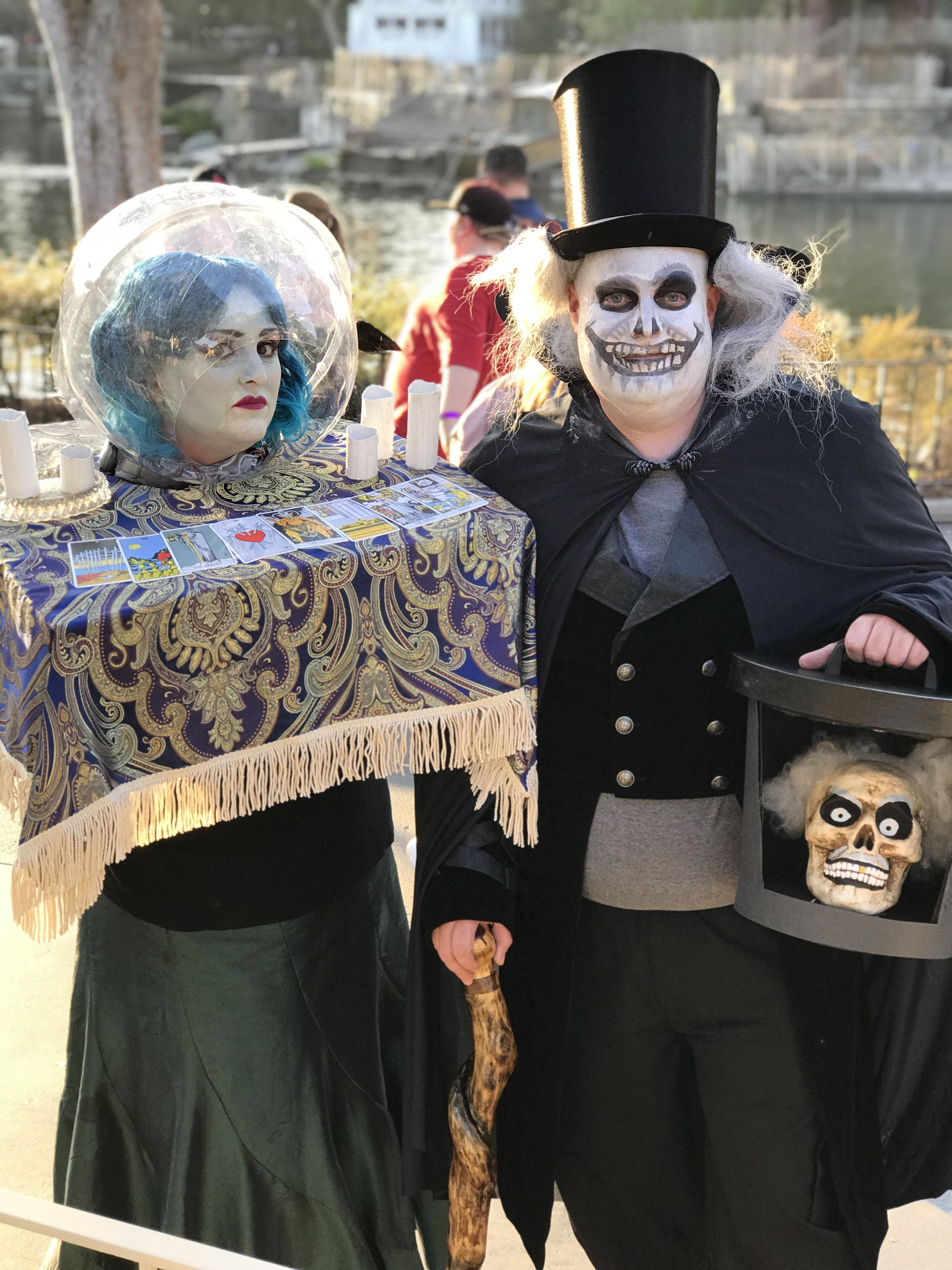 Madame Leota And Hatbox Ghost Haunted Mansion Cosplay Halloween Costumes At Disn Disney Halloween Decorations Haunted Mansion Halloween Haunted Mansion Costume