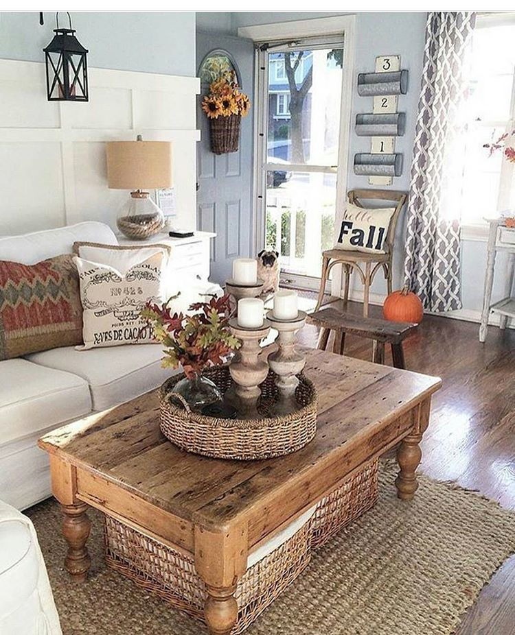 Jute rug farm house living room coffee table farmhouse