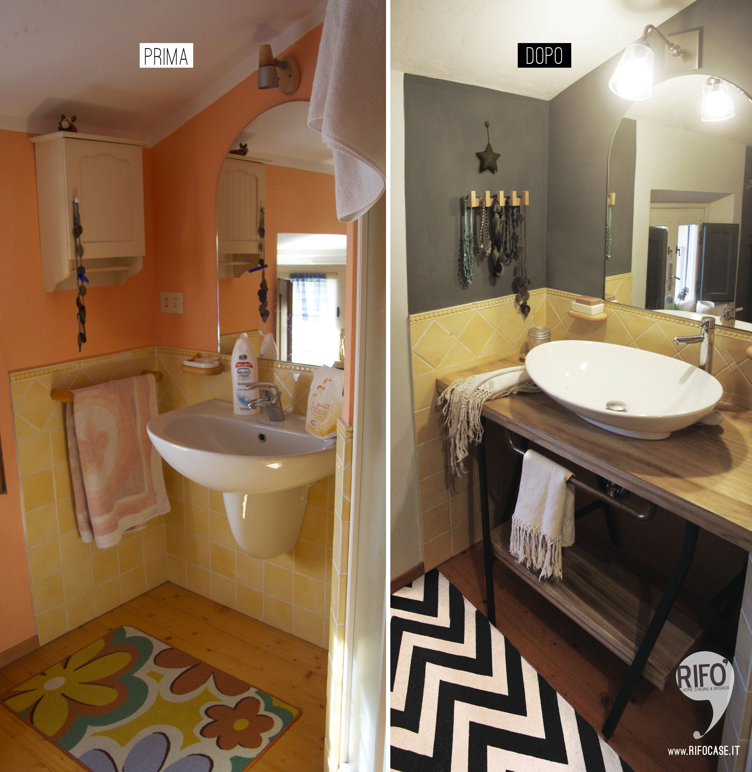 3f5490d7198e before - after: bathroom restyling - bathroom relooking low cost PRIMA E  DOPO relooking bagno