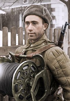 Red Army Signal Corps,With captured German folding telecoi…   Flickr, pin by Paolo Marzioli