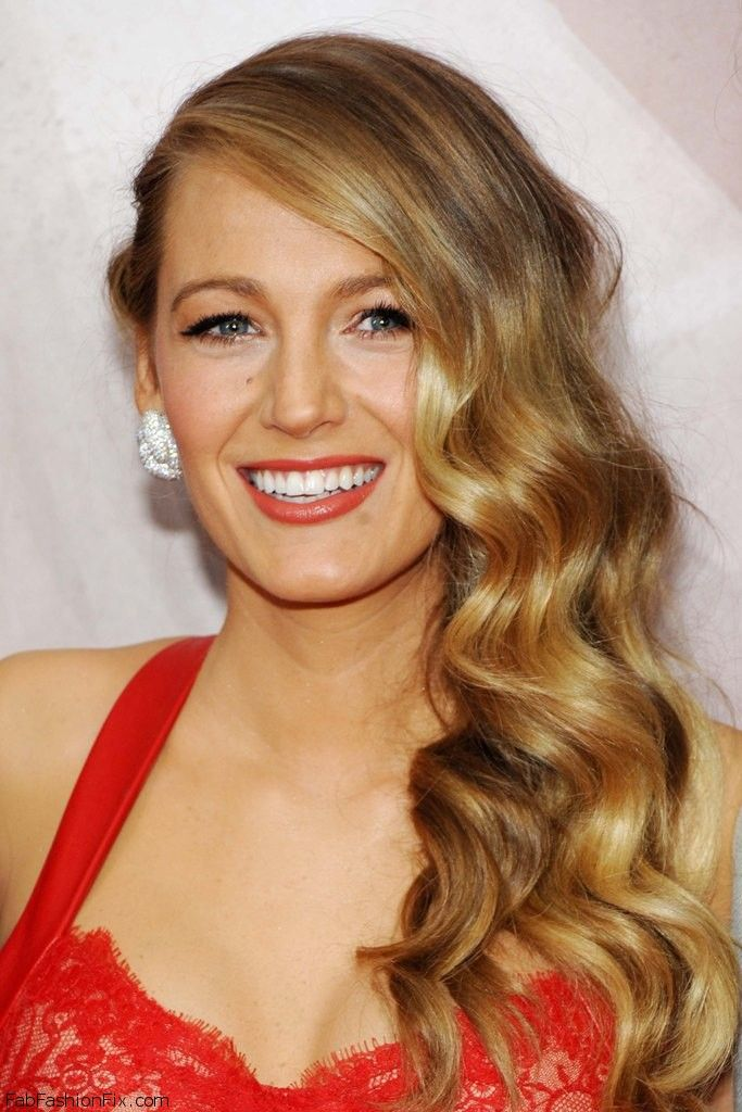"""Gorgeous Blake Lively with retro waves hairstyle at the New York Premiere of """"The Age of Adaline"""" (April 2015). #blakelively"""