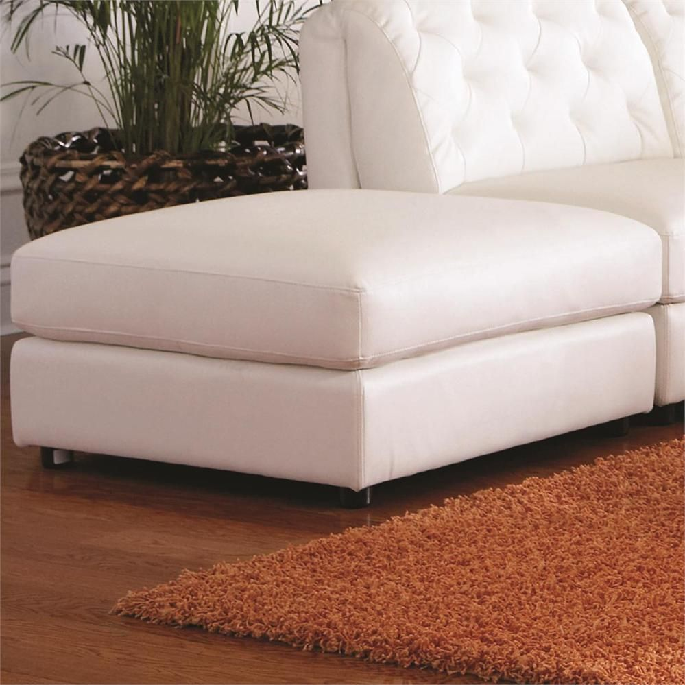 Oversized Ottoman Slipcover Leather Storage Ottoman White Ottoman Storage Ottoman