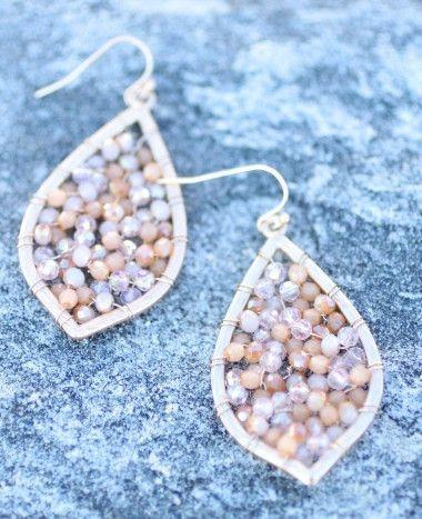 Beaded Web Earrings