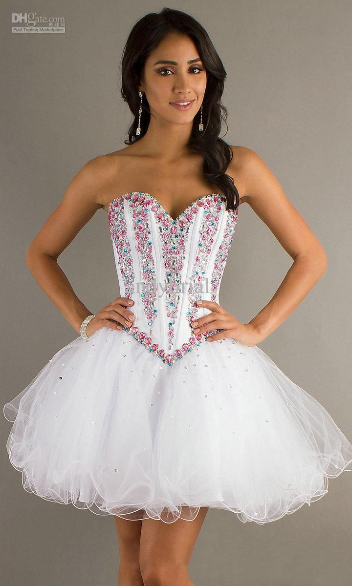 Frilly and Sparkly Short Prom Dresses