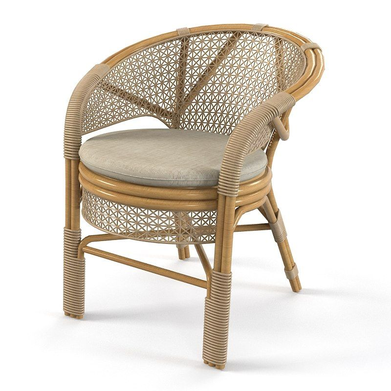 wicker outdoor chair 3d model 3d model - Garden Furniture 3d Model