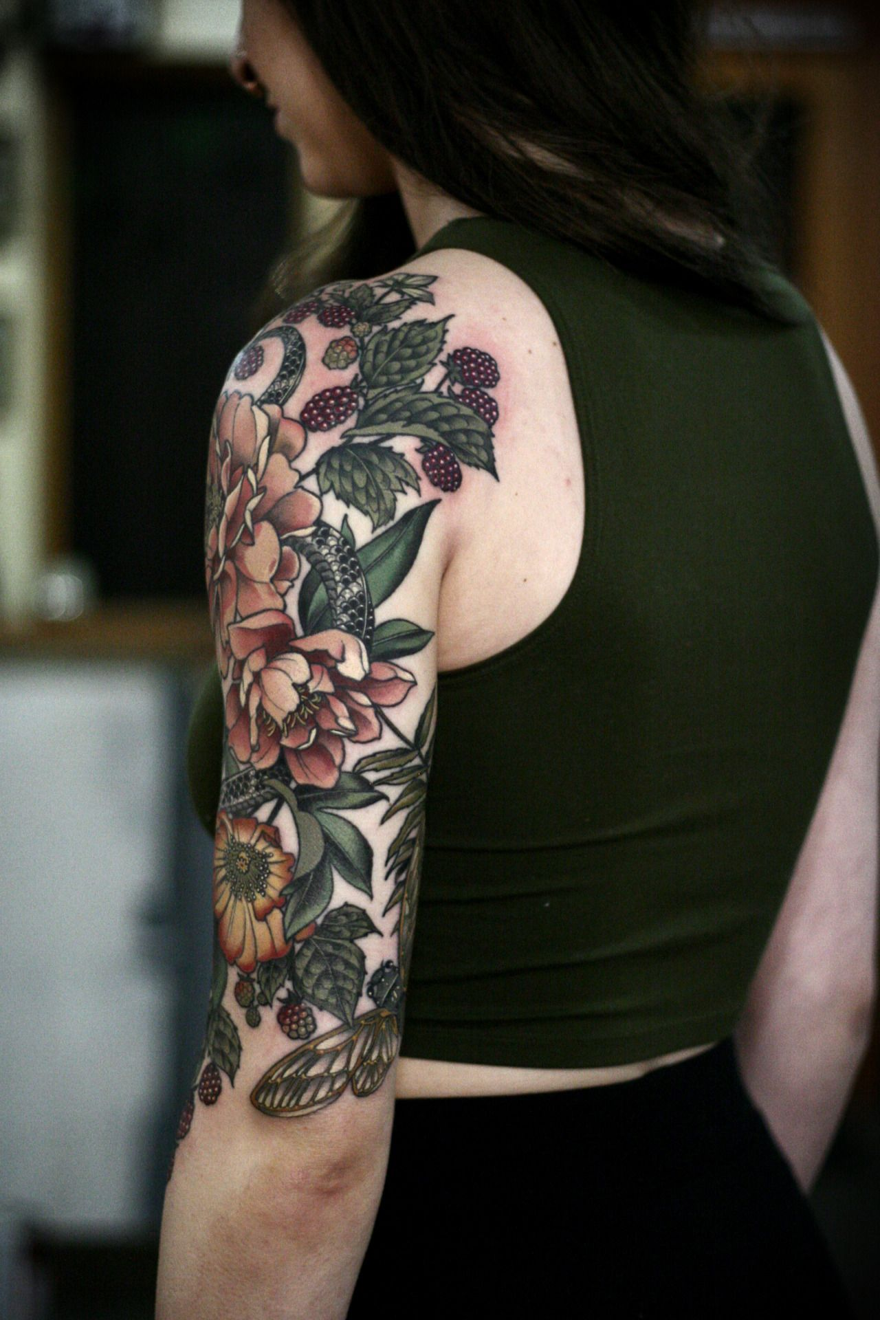 Garden Half Sleeve Ive Been Working On Since September On Makenzie