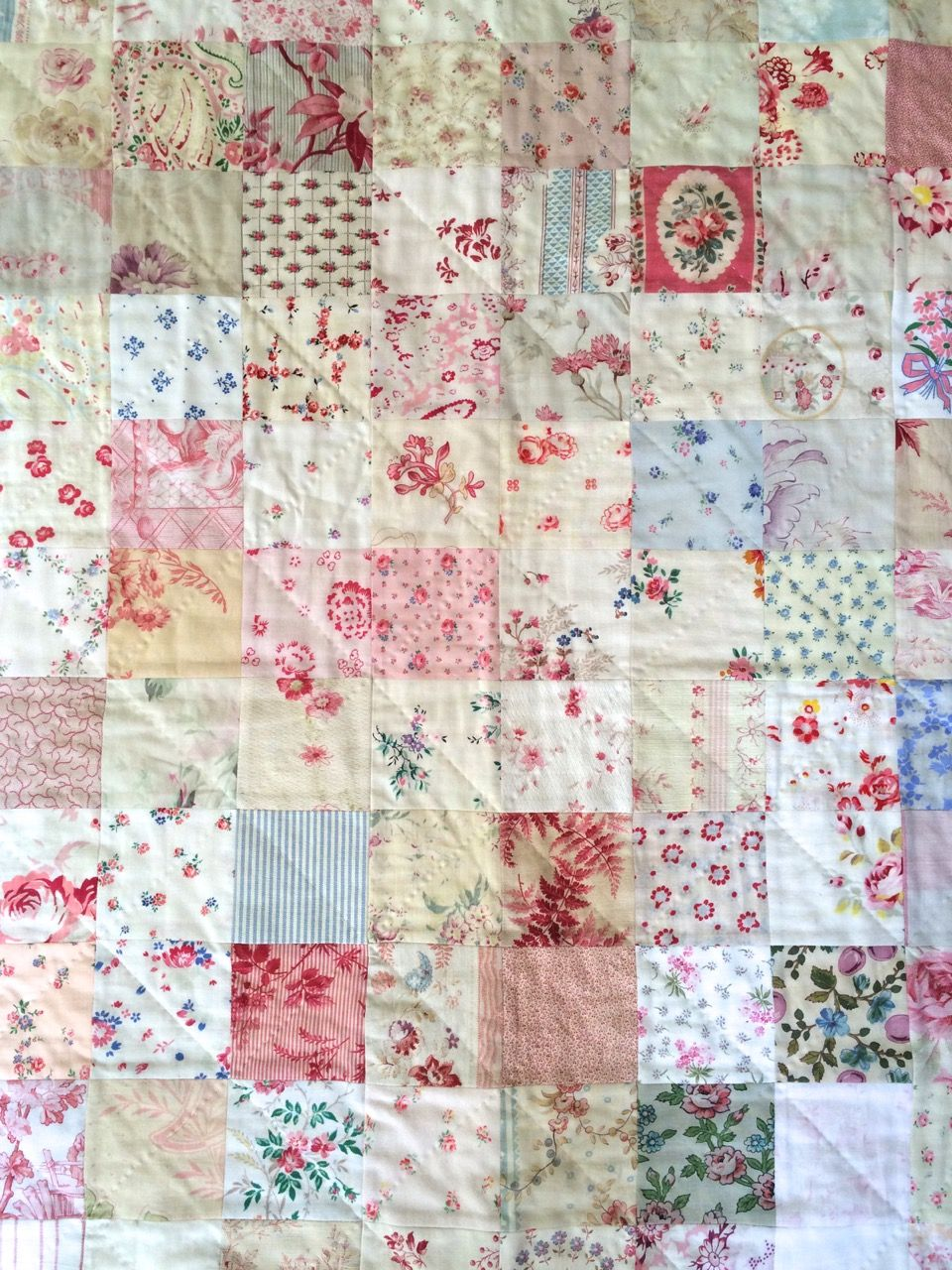 Cot Quilt Handmade By Henhouse With Vintage Fabrics Cot