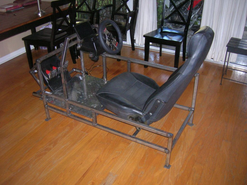 racing simulator chair plans arm covers diy cockpit thread iracing member forum sim