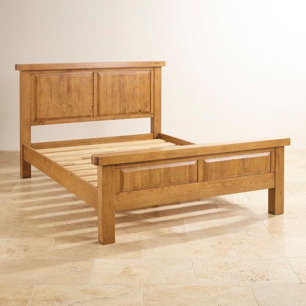Hercules Rustic Solid Oak Double Bed Oak King Size Bed Solid