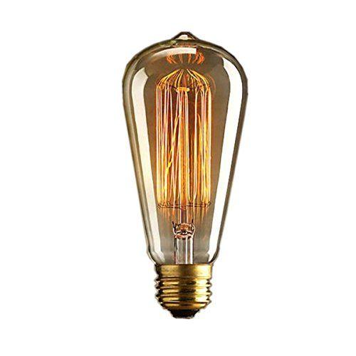 KINGSO 1x Vintage light bulb Retro old fashioned Edison Style E27