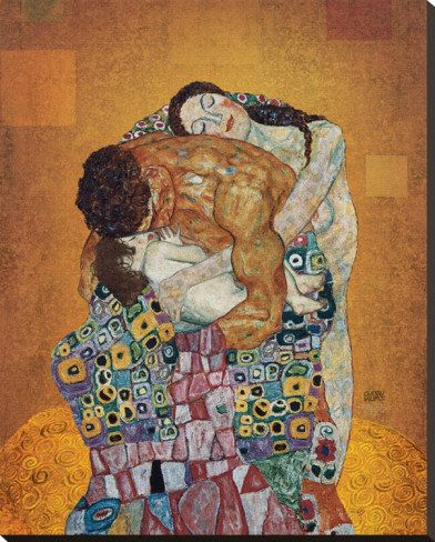 The Family Stretched Canvas Print by Gustav Klimt at AllPosters.com on Wanelo