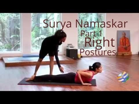 surya namaskar part1 right postures  youtube  surya