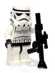 "LEGO Star Wars LOOSE Mini Figure Stormtrooper with Blaster Rifle by LEGO. $11.45. 1.5"" Stormtrooper lego figure with the long blaster rifle as weapon. 1.5"" Stormtrooper lego figure with the long blaster rifle as weapon. The figure comes from a Star Wars lego set."
