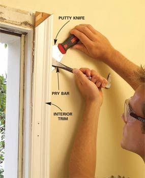 Replacing Door Trim : replacing, Replace, Exterior, Installing, Door,, Frame, Molding,, Doors