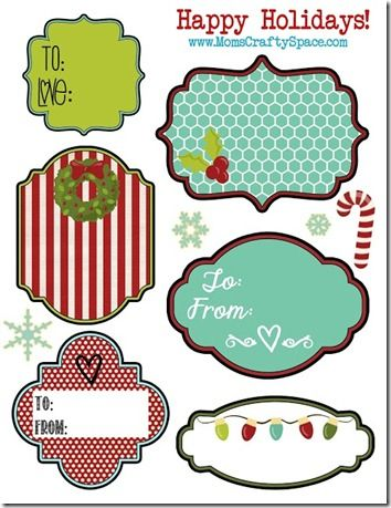 Free Gift Tags Set   Holiday Gift Tags Christmas Holidays And